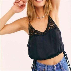 Free People Blouson Crochet Cami Crop Top XS